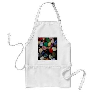 Piedras de gema coloridas delantal