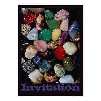 Piedras de gema coloridas comunicados personalizados