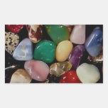 Piedras de gema coloridas rectangular altavoces