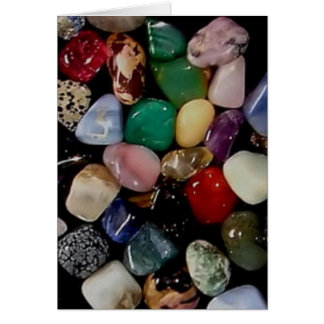 Piedras de gema coloridas tarjetas