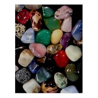 Piedras de gema coloridas postal