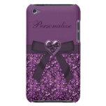 Piedras de gema y impresión púrpuras de la joya de barely there iPod cárcasas