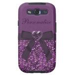 Piedras de gema y impresión púrpuras de la joya de galaxy SIII cobertura