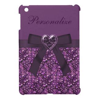 Piedras de gema y impresión púrpuras impresas de l