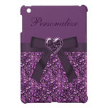 Piedras de gema y impresión púrpuras impresas de l iPad mini cárcasas