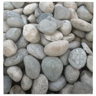 piedras de la construcción en la mina servilleta de papel