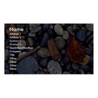 Piedras de la playa de la costa plantilla de tarjeta de negocio