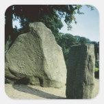 Piedras de la runa de Viking Calcomanias Cuadradas