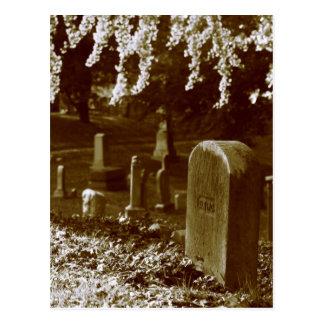 Piedras de la tumba del cementerio de Bosque verde Tarjetas Postales