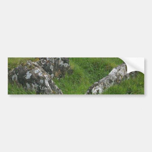 Piedras de las tumbas de Irlanda Pegatina Para Auto