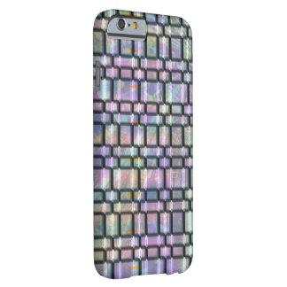Piedras de mármol coloridas abstractas funda de iPhone 6 barely there