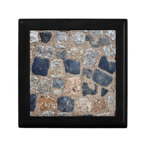 Piedras de pavimentación naturales en blanco y neg cajas de regalo
