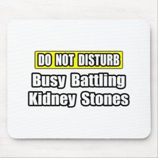 Piedras de riñón de lucha ocupadas tapetes de raton