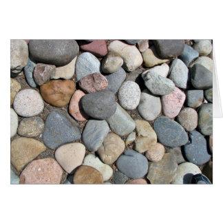 Piedras decorativas coloridas del guijarro tarjetas