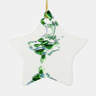 piedras decorativas adorno de cerámica en forma de estrella