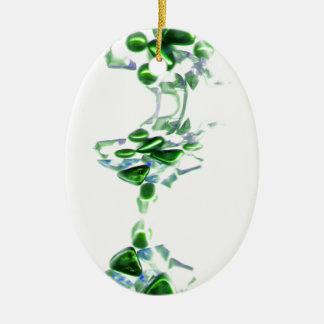 piedras decorativas adorno ovalado de cerámica
