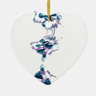 piedras decorativas en la forma de serpiente adorno de cerámica en forma de corazón