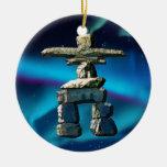 Piedras del alcohol del nativo americano de adorno redondo de cerámica