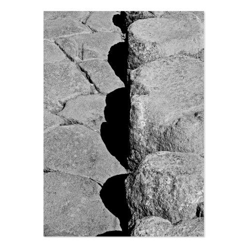 Piedras del bordillo en Pompeya Tarjetas De Visita