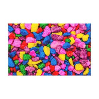 Piedras del caramelo lienzo envuelto para galerías