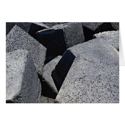 Piedras del dique en la costa de Los Cristianos, T Tarjeta