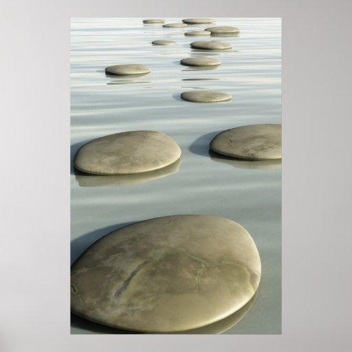 Piedras del paso póster