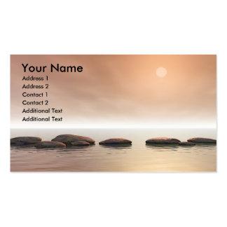 Piedras del paso tarjetas de visita