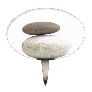 Piedras del yogo del zen decoración para tarta