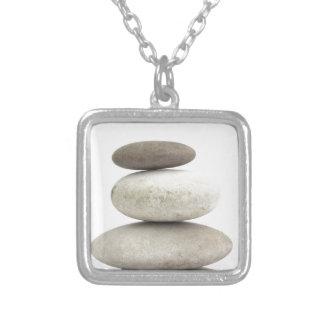 Piedras del yogo del zen pendiente personalizado