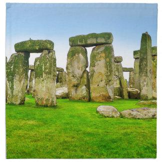 Piedras derechas antiguas de Stonehenge en arte Servilletas De Papel