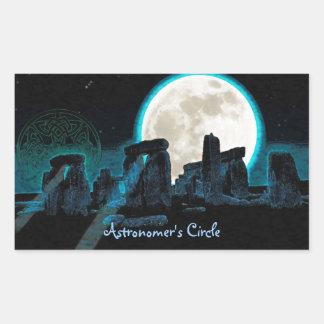 Piedras derechas célticas de Stonehenge en Gran Pegatina Rectangular