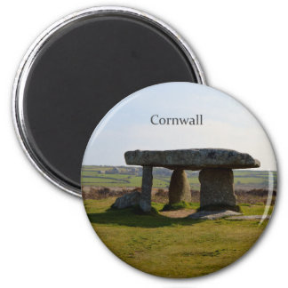 Piedras derechas Cornualles Inglaterra del Quoit Imán Redondo 5 Cm