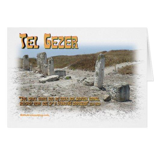 Piedras derechas del teléfono Gezer Felicitación