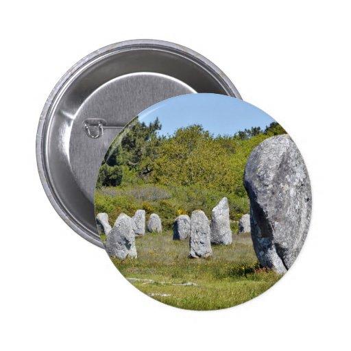 Piedras derechas en Carnac en Francia Pin
