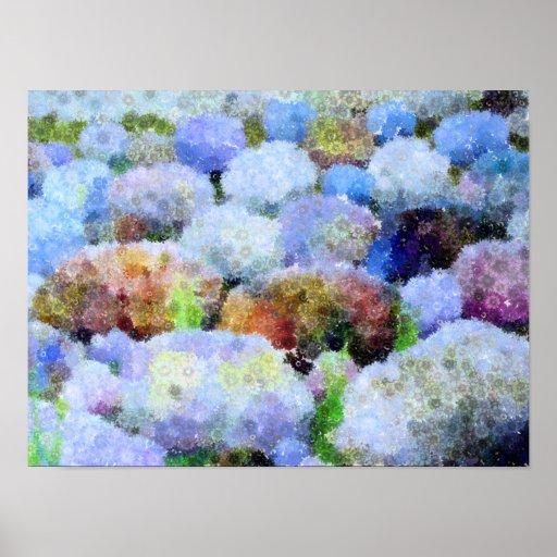 Piedras en colores pastel poster