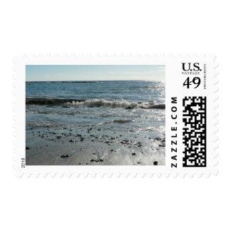 Piedras en la playa sello