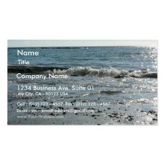 Piedras en la playa tarjetas de visita