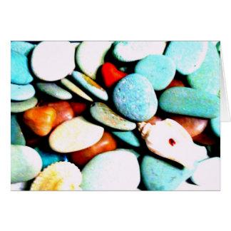 Piedras en las arenas felicitacion