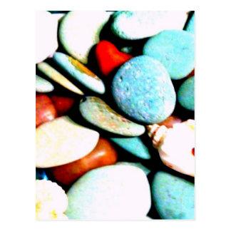 Piedras en las arenas tarjetas postales