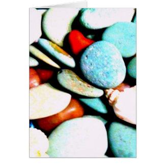 Piedras en las arenas tarjeton