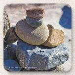 Piedras en Sur grande - sistema de la playa de 6 Posavaso