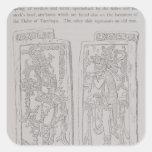 Piedras esculpidas del 'templo del pegatina cuadrada