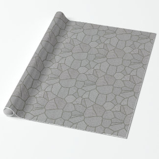 Piedras grises de la pavimentadora de la pizarra - papel de regalo