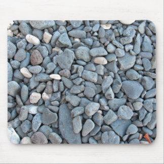 Piedras grises lisas del río alfombrilla de ratones