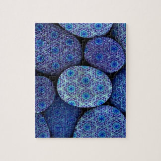 piedras, modelo del azul del vintage puzzles
