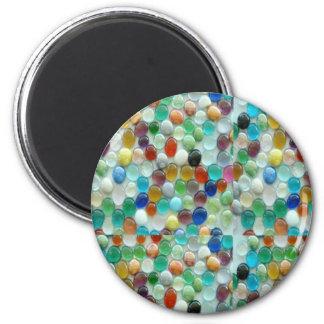Piedras naturales coloridas de PEARLE: GOCE DE CAD Imán De Frigorífico