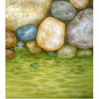 Piedras por el lago esculturas fotograficas
