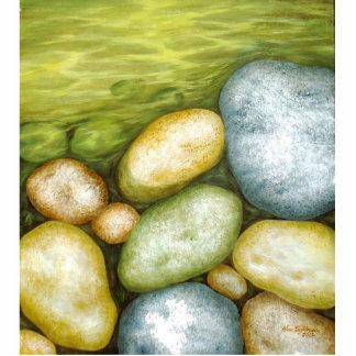 Piedras por el lago esculturas fotográficas