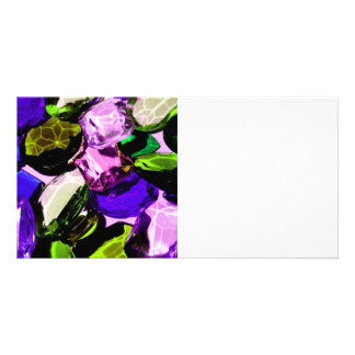 Piedras preciosas tarjetas fotográficas