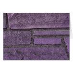 piedras púrpuras tarjeta de felicitación